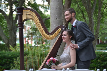 Wedding Ceremony Music by harpist in Tampa
